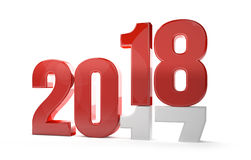 Nieuwe jaar 3d redner 2018 Stock Foto