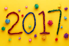 Nieuwe jaar 2017 decoratie Stock Fotografie