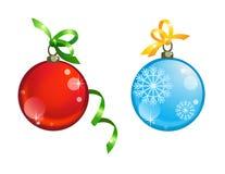 Nieuwe jaar decoratieve ballen Stock Afbeelding