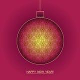Nieuwe jaar en Kerstmis vectorachtergrond royalty-vrije stock foto's