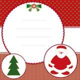 Nieuwe jaar en Kerstmiskaart Stock Foto's