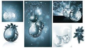 Nieuwe jaar en van Kerstmis achtergronden Stock Fotografie