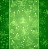 Nieuwe jaar groene achtergrond Stock Illustratie