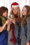 Nieuwe jaar of Kerstmispartij Stock Foto