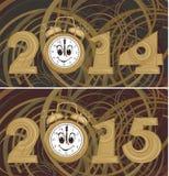 Nieuwe jaar` s achtergrond - 2014, 2015 Stock Foto