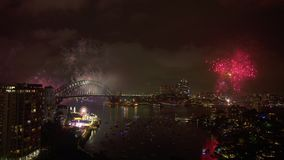 Nieuwe jaar` s vooravond in Australië stock footage