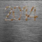 Nieuwe jaar 2014 tekst Stock Fotografie