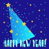 Nieuwe jaar uitstekende kaart Royalty-vrije Stock Foto's