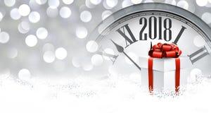 2018 Nieuwe jaarachtergrond stock illustratie