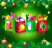Nieuwe jaarachtergrond Stock Foto's