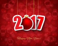 2017 Nieuwe jaarachtergrond Royalty-vrije Stock Foto's