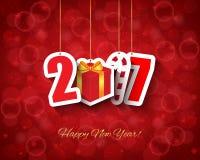 2017 Nieuwe jaarachtergrond Royalty-vrije Stock Fotografie