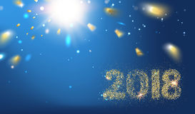 2018 Nieuwe jaarachtergrond vector illustratie