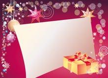 Nieuwe jaarachtergrond met gebied voor brief royalty-vrije illustratie