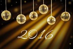 Nieuwe jaarachtergrond met gouden licht Royalty-vrije Stock Afbeeldingen