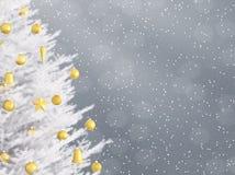 Nieuwe jaarachtergrond met Kerstmisboom het 3d teruggeven royalty-vrije illustratie