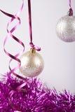 Nieuwe jaarballen Stock Foto