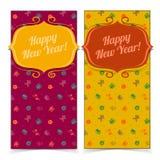 Nieuwe jaarbanners Stock Foto's