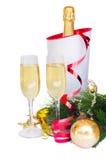 Nieuwe jaarchampagne Stock Foto