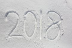 Nieuwe jaardatum Stock Fotografie