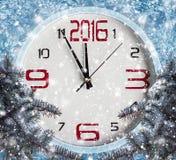 Nieuwe jaardecoratie met takken van sparren Royalty-vrije Stock Foto