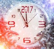 Nieuwe jaardecoratie met takken van sparren Stock Foto
