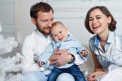 Nieuwe jaarfamilie Stock Afbeeldingen