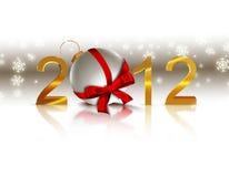 Nieuwe jaarillustratie Stock Afbeelding
