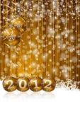 Nieuwe jaarillustratie Royalty-vrije Stock Foto
