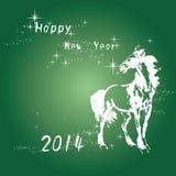 Nieuwe jaarkaart Royalty-vrije Stock Afbeeldingen