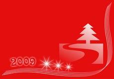 Nieuwe jaarKerstmis of de wintervakantie royalty-vrije illustratie