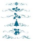 Nieuwe jaarreeks decoratieve kalligrafische elementen Royalty-vrije Stock Afbeelding