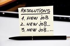 Nieuwe jaarresolutie over een prentbriefkaar Stock Foto's
