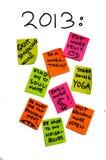 Nieuwe jaarresoluties 2013, het levensdoelstellingen overambition Stock Afbeelding
