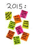 Nieuwe jaarresoluties 2015, persoonlijke het levensdoelstellingen, om lijst, overambition te doen Royalty-vrije Stock Fotografie