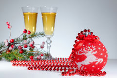 Nieuwe jaaruitnodiging Royalty-vrije Stock Foto's