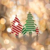 Nieuwe jaaruitnodiging Familylook op Kerstavond Stock Foto
