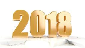 Nieuwe jaarvideo Jaar 2018 royalty-vrije illustratie