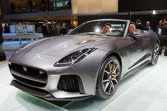 Nieuwe 2017 Jaguar F-Type SVR convertibele auto Stock Foto