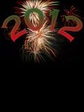 Nieuwe jaren 2012 met exemplaarruimte Stock Foto