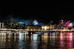 Nieuwe jarengebeurtenis in Boedapest stock afbeeldingen