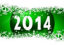 2014 nieuwe jarenillustratie Stock Afbeeldingen