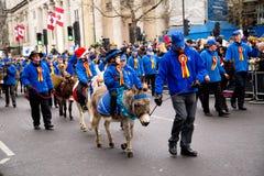 Nieuwe jarenparade Stock Foto