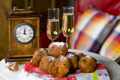 Nieuwe jarenvooravond in Holland Royalty-vrije Stock Foto
