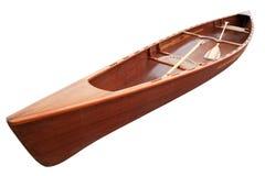 Nieuwe kano met peddels stock foto's