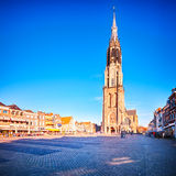 Nieuwe Kerk - the New Church in Delft, Holland stock photo