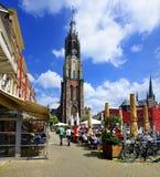 Nieuwe Kerk (nueva iglesia), cerámica de Delft Imagen de archivo libre de regalías