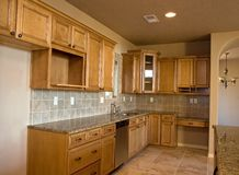 Nieuwe keuken Royalty-vrije Stock Foto