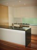Nieuwe klaar keuken Royalty-vrije Stock Afbeelding