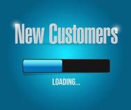 nieuwe klanten die het concept van het barteken laden royalty-vrije illustratie